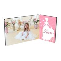 Cadre photo double Princesse personnalisé avec votre photo prénom