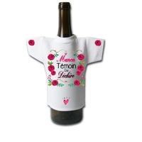 Mini tee shirt bouteille Mariage cadeau témoin personnalisé avec prénom