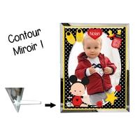 Cadre en verre personnalisé avec votre photo et votre texte Thème naissance garçon