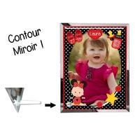 Cadre en verre personnalisé avec votre photo et votre texte Thème naissance fille