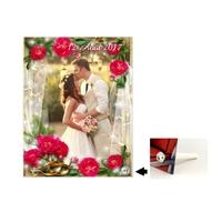 Cadre en verre personnalisé avec votre photo et votre texte Thème mariage