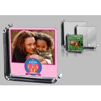 Cadre photo en verre Super maman personnalisé avec votre photo