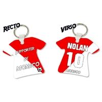 Porte clés Maillot de foot MONACO personnalisé avec prénom et numéro