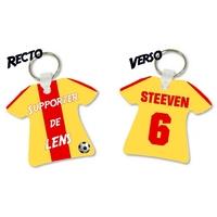 Porte clés Maillot de foot LENS personnalisé avec prénom et numéro