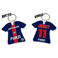 Porte clés Maillot de foot PARIS personnalisé avec prénom et numéro