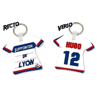 Porte clés Maillot de foot LYON personnalisé avec prénom et numéro