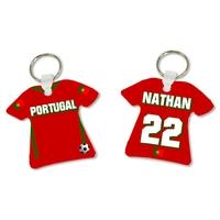 Porte clés Maillot de foot Portugal personnalisé avec prénom et numéro