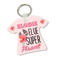 Porte clés T-shirt Elue uper Atsem personnalisé avec prénom