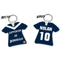 Porte clés Maillot de foot Bordeaux personnalisé avec prénom et numéro