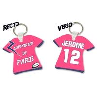 Porte clés Maillot de rugby PARIS personnalisé avec prénom et numéro