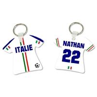 Porte clés Maillot de foot Italie personnalisé avec prénom et numéro