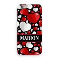 Coque Coeur Amour 3D Iphone 5/6/7/8/X/XR/XS personnalisée avec prénom