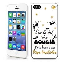 Coque iphone 4/4S 5/5S 6, 7, 8, X, XS, XR ou SE Humour J'me barre au pays imaginaire