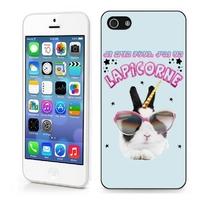 Coque iphone 4/4S 5/5S 6, 7, 8, X, XS, XR ou SE Humour J'ai un lapicorne lapin+licorne
