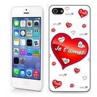 Coque iphone 4/4S 5/5S 6, 7, 8, X, XS, XR ou SE Amour Je t'aime !