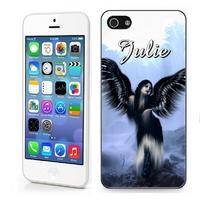 Coque iphone 4/4S, 5/5S, 6, 7, 8, X, XS, XR ou SE Ange gothique personnalisée avec prénom
