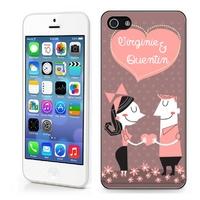 Coque iphone 4/4S, 5/5S, 6, 7, 8, X, XS, XR ou SE Amour couple personnalisée avec prénoms