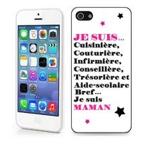 Coque iphone 4/4S 5/5S 6, 7, 8, X, XS, XR ou SE Je suis maman !