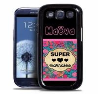 Coque samsung galaxy S4 S5 S6 S7 S8 S9 Super marraine personnalisée avec prénom