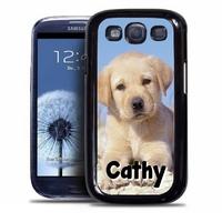 Coque samsung galaxy S4 S5 S6 S7 S8 S9 Chien chiot personnalisée avec prénom