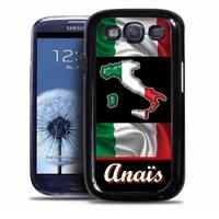 Coque samsung galaxy S4 S5 S6 S7 S8 S9 Italie personnalisée avec prénom