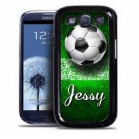 Coque samsung galaxy S4 S5 S6 S7 S8 S9 Football personnalisée avec prénom
