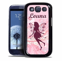 Coque samsung galaxy S4 S5 S6 S7 S8 S9 Fée personnalisée avec prénom
