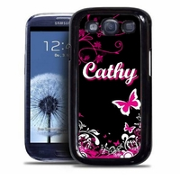 Coque samsung galaxy S4 S5 S6 S7 S8 S9 Fashion girl personnalisée avec prénom