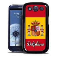 Coque samsung galaxy S4 S5 S6 S7 S8 S9 Espagne personnalisée avec prénom