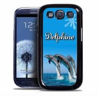 Coque samsung galaxy S4 S5 S6 S7 S8 S9 Dauphin personnalisée avec prénom