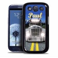 Coque samsung galaxy S4 S5 S6 S7 S8 S9 Camion personnalisée avec prénom