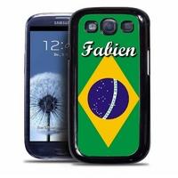 Coque samsung galaxy S4 S5 S6 S7 S8 S9 Brésil personnalisée avec prénom