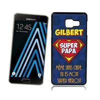 Coque Samsung galaxy A3 A5 J5 J7 Super papa personnalisée avec prénom