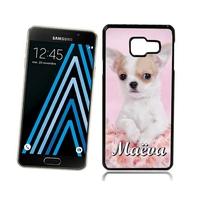 Coque Samsung galaxy A3 A5 J5 J7 Chien Chihuahua personnalisée avec prénom