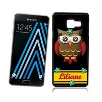 Coque Samsung galaxy A3 A5 J5 J7 Chouette Owl  personnalisée avec prénom