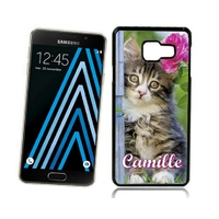 Coque Samsung galaxy A3 A5 J5 J7 Chat Chaton personnalisée avec prénom