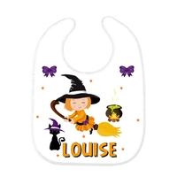 Bavoir bébé Halloween personnalisé avec prénom