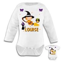 Body bébé Halloween personnalisé avec le prénom de votre choix