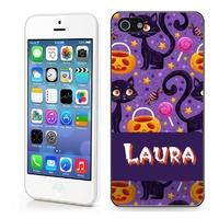 Coque iphone 4/4S, 5/5S, 6, 7, 8, X, XS, XR ou SE Halloween personnalisée avec prénom