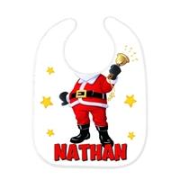 Bavoir bébé Père Noël personnalisé avec prénom