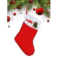 Botte chaussette de noël Fille Elfe personnalisée avec prénom