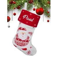 Botte chaussette de noël (ref H01) Père noël personnalisée avec prénom