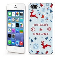 Coque iphone 4/4S 5/5S  6, 7 ou SE Joyeux Noël et bonne année