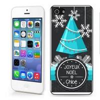 Coque iphone 4/4S 5/5S  6, 7 ou SE Joyeux Noël personnalisée avec prénom