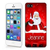 Coque iphone 4/4S 5/5S  6, 7 ou SE Père Noël personnalisée avec prénom