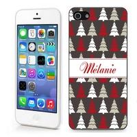 Coque iphone 4/4S 5/5S  6, 7 ou SE Noël personnalisée avec prénom