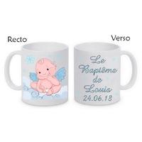 Mug (tasse) Baptême garçon personnalisé avec le prénom et la date de votre choix
