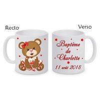 Mug (tasse) Baptême personnalisé avec le prénom et la date de votre choix
