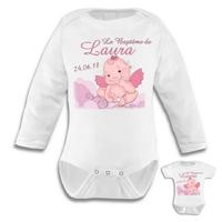 Body bébé Baptême fille personnalisé avec le prénom et la date de votre choix