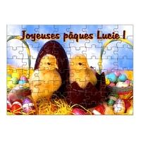 Puzzle Pâques Canetons personnalisé avec prénom 35,70 ou 96 pièces